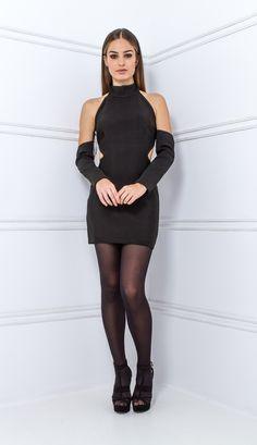 VESTIDO CURTO BANDAGE PRETO MANGA SOLTA - VE21742-03 | Skazi, Moda feminina, roupa casual, vestidos, saias, mulher moderna