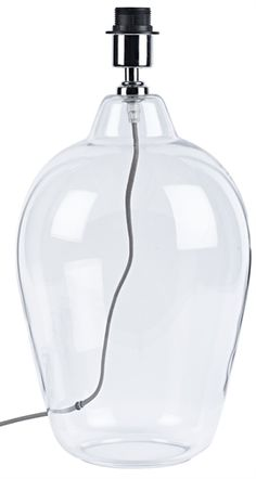 Add texture to your room with our hand-blown Shaftesbury clear glass lamp base. Clear Glass Lamps, Glass Lamp Base, Lamp Bases, Soap Dispenser, Bedroom Decor, Lights, Master Bedrooms, Conservatory, Open Plan