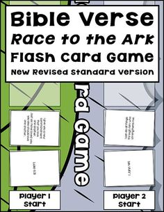 The Bible Verse Race to the Ark Flash Card Game gives children an opportunity to practice Bible verses in fun ways.