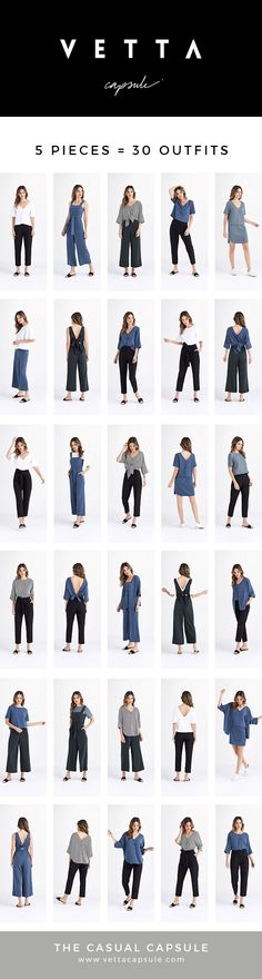 The Casual Capsule | by VETTA Capsule | Summer 2018 | 5 pieces = 30 outfits | Made in USA | Sustainable fabric | Capsule Wardrobe | Tencel | Organic Cotton #Capsulewardrobe #Ethicalfashion #shiftdress #tencel #sustainable #convertible www.vettacapsule.com