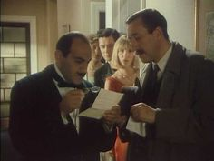 Poirot and Japp, working to solve a mystery. (David Suchet and Philip Jackson)