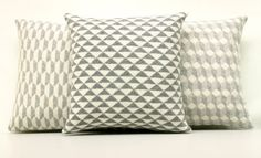 Geometric Pillow Geometric Cushion Monochrome by ArticleApparel, $39.00 Etsy