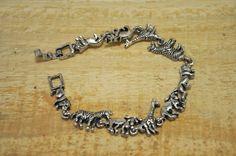 Elephant bracelet Animal bracelet lion tiger elephant giraffe zebra zoo bracelet EL493 by Andiesvintage on Etsy