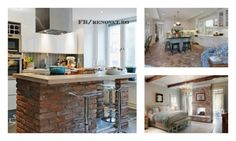 Folosirea caramizilor in decorul casei - 18 metode ingenioase si creative Kitchen Island, Bar, Interior, Table, Furniture, Home Decor, Island Kitchen, Decoration Home, Indoor