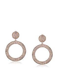 CZ by Kenneth Jay Lane Round Wavy Pavé Circle Drop Earrings