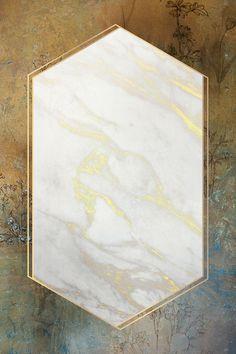 Golden marble hexagon frame design | premium image by rawpixel.com / Donlaya Background Design Vector, Frame Background, Textured Background, Rose Frame, Flower Frame, Pop Art Images, Space Frame, Mother Art, Instagram Background