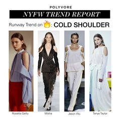 """""""NYFW Trend Report: Cold Shoulder"""" by polyvore-editorial ❤ liked on Polyvore featuring Jason Wu, Tanya Taylor, Rosetta Getty, NYFW, coldshoulder and pvnyfw"""