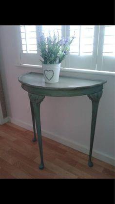 Half Moon Table painted console table | step guide, half moon table and moon table
