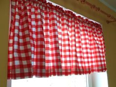 Vintage Valance 20 x 100 Long Gingham Cotton by OLaLaVintage