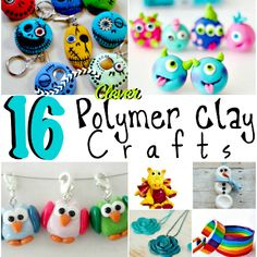Polymer clay crafts...Polymer clay is so fun to create with- get started with one of these 16 polymer clay crafts!