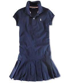 Ralph Lauren Kids Dress, Little Girl Polo Dress - Kids Back To School - Macy's