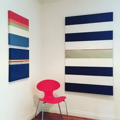 """Stripes everywhere! Must be Spring. They feel timeless and add punch to any interior. Breakfast areas get a energy boost and formal dining rooms becomes instantly modern. 