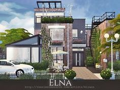 Elna is a cosy townhouse for small or middle sim family. Found in TSR Category 'Sims 4 Residential Lots'