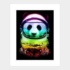 SPACE PANDA Art Print