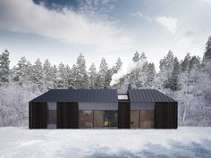 """New prefab house """"Tind"""" by Claesson Koivisto Rune. In Sweden, prefab is of single family new construction, and does not imply lack of quality or design at all. Architecture Durable, Residential Architecture, Interior Architecture, Scandinavian Architecture, Chinese Architecture, Sustainable Architecture, Contemporary Architecture, Interior Design, Prefab Buildings"""