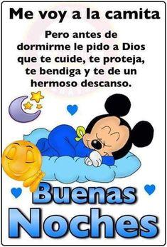 Le Pedi A Dios, Good Night Blessings, Smurfs, Quotes, Sticker, Amor, Good Night Prayer, Good Night Messages, Evening Prayer