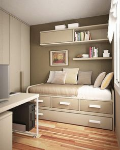 Small Bedroom Design Ideas inspiring twin boys very small bedroom design ideas with simple diy bunk bed and inspirational closet position design ideas very small space saving bedroom Teen Boy Bedroom Decorating Ideas 4 Small Bedroom Room Design Ideas Inside
