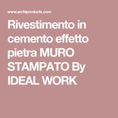Pavimento/rivestimento effetto cemento MICROTOPPING By IDEAL WORK ...