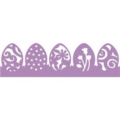 Silhouette Design Store - View Design #3158: Easter Egg Border