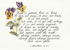 1 Corinthians 13:4-5 <3