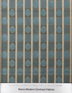 Retro Modern Upholstery Fabric 18 yds Designtex Gotham Sky Blue $1 527 Val EG1   eBay