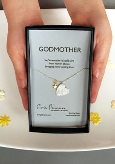 Godmother Necklace Gifts for Godmother as you celebrate baby's baptism.