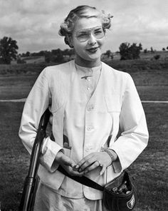 Pat Laursen, national women's skeet shooting champion    1940 ...she was awesome!
