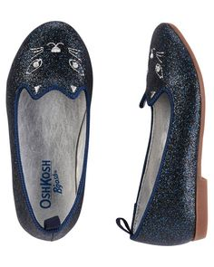 Toddler Girl OshKosh Sparkle Kitty Loafers from Carters.com. Shop clothing &…