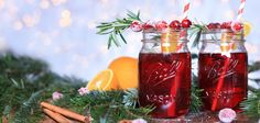 Cranberry Punch with Rosemary! Perfect Cocktail for cold days!