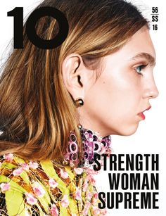 Molly Bair by Richard Burbridge for 10 Magazine Spring Summer 2016