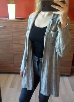 Kup mój przedmiot na #vintedpl http://www.vinted.pl/damska-odziez/kardigany/14865395-szara-dluga-pleciona-narzutka-kardigan-z-guzikami