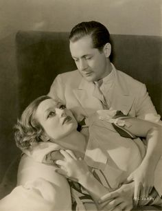 Joan Crawford and Robert Montgomery in a Letty Lynton promo c.1932 photo by George Hurrell  (happy birthday Joan!)