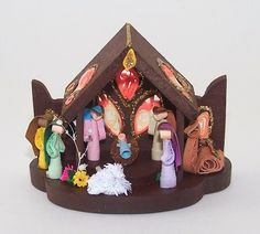 Nativity Set , Nativity Scene , Paper Quill Nativity , Paper Quilling Ornament ,  Christmas Ornament