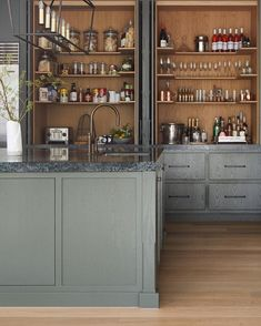 At Beechwood, we made a conscious decision not to have a butler's pantry. The trend of recent years has been to have second kitchens,… Kitchen Interior, Kitchen Design, Kate Walker, Cool Kitchens, Butler, Pantry, Liquor Cabinet, New Homes, Storage