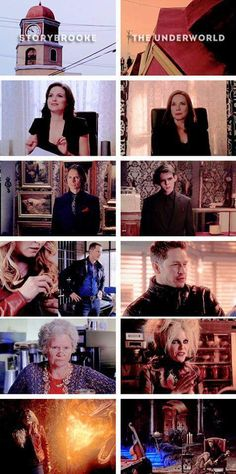Storybrooke vs. Hellbrooke: The Lovely Mayor, The Badass Pawnbroker, Sheriff Chiseled-Chin, The Diner Owner, and what's in the basement