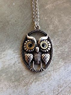 Fleurty Girl - Everything New Orleans - Oval Owl Pendant Necklace, $10.
