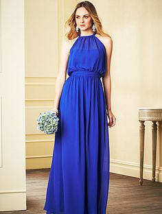 Alfred Angelo Style 7302: halter chiffon jumpsuit bridesmaid dress