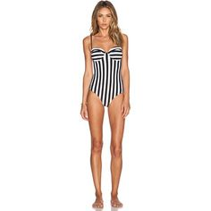 Wildfox Couture Dreamhouse Stripe Swimsuit Swimwear