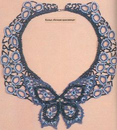 Beaded Butterfly Necklace    Beader from Ukraine shows a few key components to this necklace but it is not a detailed step-by-step instruction ... however it does have some good portions worth looking at