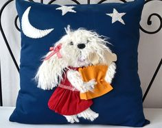 Dog Pillow Cover  19 x 19 by suseer on Etsy, $60.00