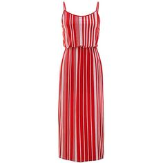 Vertical Stripe Long Maxi Dress ($24) ❤ liked on Polyvore featuring dresses