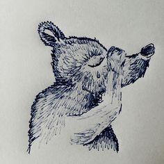 #eintageinbaer trauriger Bär