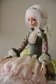 #dolls #Кукла Даша - оливковый, интерьерная игрушка, интерьерная кукла, Будуарная кукла, авторская кукла