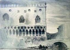 John Ruskin - Extérieur de Palais des Doges, Venise
