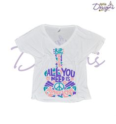 """DPhiE Designs """"All You Need is Deepher Love"""" Bid Day 2015 Loose Fit Flowy V-Neck"""
