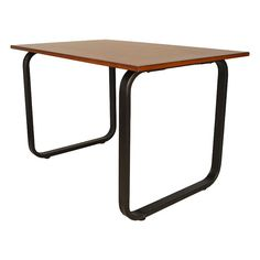 Carson Contemporary Dining Table, Brown