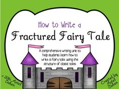 COMPLETE Fractured Fairy Tale Writing Unit! Includes graphic organizers, exemplars for each stage of the writing process, a comprehensive list of 62 fractured fairy tale titles, a student sample, stationary pages, and more! Great for 2nd-4th!!