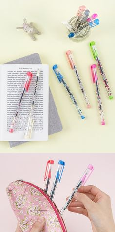 Make your writing shine with these adorably patterned black pens!