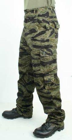 aa26b5a41eb Vietnam Tadpole tiger stripe trousers.