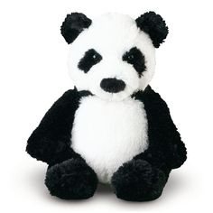 Melissa & Doug Bamboo Panda Bear Stuffed Animal: This stuffed animal's fur is black and white and soft all over! With his high-quality fabrics and fill and weighted bottom, Bamboo Panda Bear is very easy to love. Panda Stuffed Animal, Stuffed Animals, Stuffed Toys, Look At My, Bear Party, Plush Animals, A 17, Toddler Toys, Pet Toys